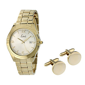 Limit Vintage Men's Gold-Plated Watch Gift Set - Product number 8003416