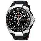 Seiko Sportura men's black dial chronograph strap watch - Product number 8003440