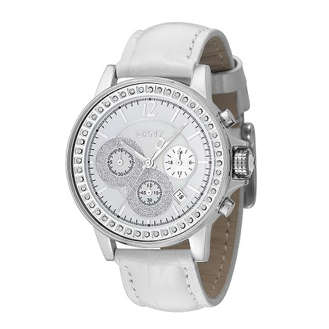 dkny ladies stone set chronograph watch product image
