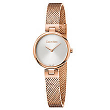 Calvin Klein Ladies' Rose Gold Plated Mesh Bracelet Watch - Product number 8004013