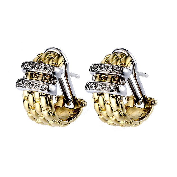 Fope Gioielli Maori 18ct gold earrings. - Product number 8004102