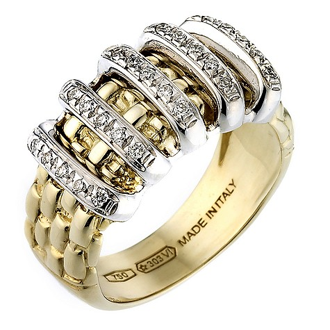 18ct gold Fope Gioielli Maori ring.