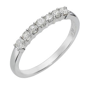 9ct white gold third carat diamond ring - Product number 8007454
