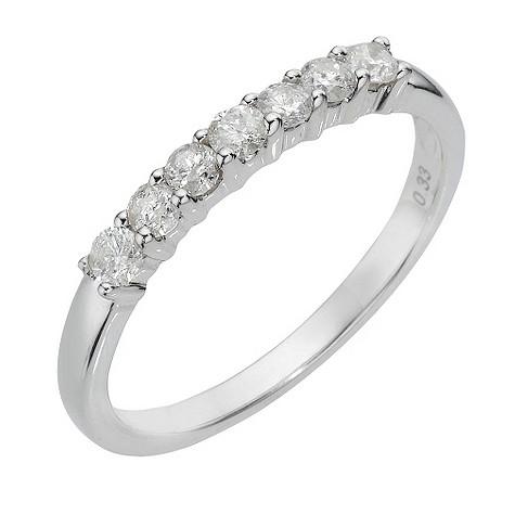 9ct white gold third carat diamond ring