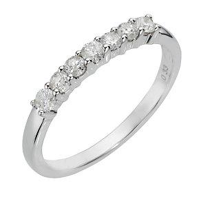 9ct white gold third carat diamond ring - Product number 8007454