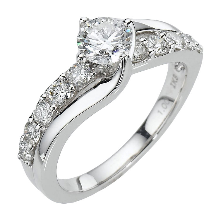 18ct White Gold 1 Carat Diamond Solitaire Ring ShopEZ Price parison