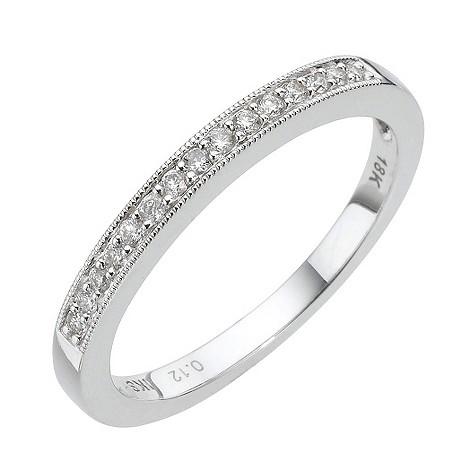 18ct white gold 12pt diamond channel set ring