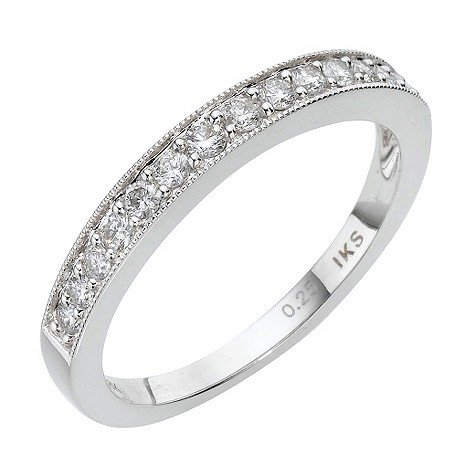 18ct white gold quarter carat diamond channel set ring