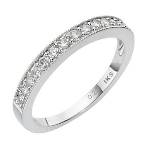 18ct white gold quarter carat diamond channel set ring - Product number 8009201
