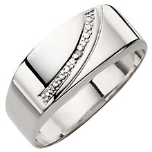 9ct White Gold Diamond Ring - Product number 8010129