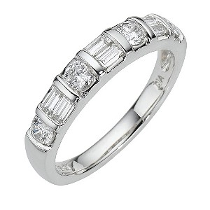 Platinum three quarter carat diamond ring - Product number 8010781