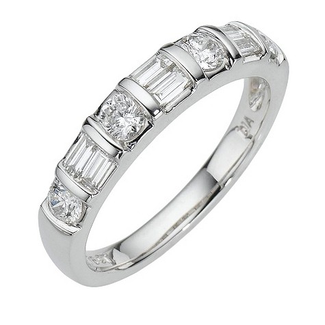 Platinum three quarter carat diamond ring