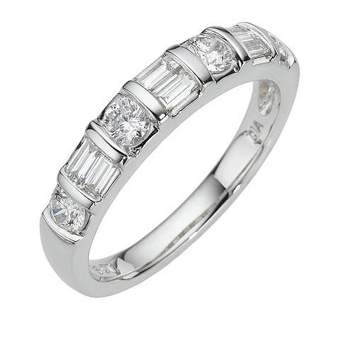 Platinum three quarter carat diamond ring
