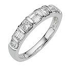 Platinum three quarter carat diamond ring - Product number 8010781