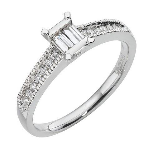 18ct white gold fifth carat diamond ring