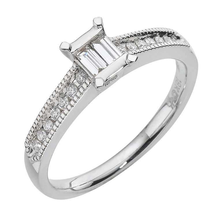 18ct white gold fifth carat diamond ring - Product number 8011192