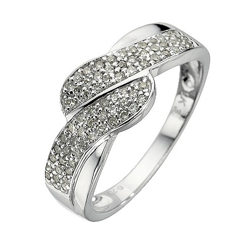 9ct white gold 0.20 carat diamond ring