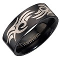 Black Titanium Tribal Ring - Product number 8011850