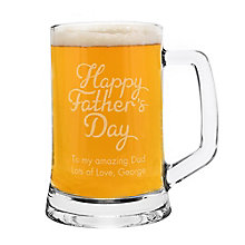 Fathers Day Glass Tankard - Product number 8020213
