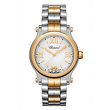 Chopard Happy Sport Ladies' Two Colour Diamond Watch - Product number 8020302