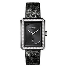 Chanel Boyfriend Tweed Ion Plated Diamond Bracelet Watch - Product number 8020388