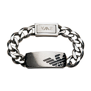 Emporio Armani men's black ID bracelet - Product number 8022011