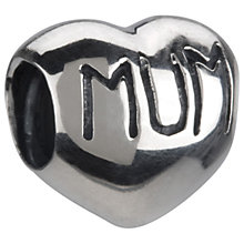 Chamilia - sterling silver mum heart bead - Product number 8024111