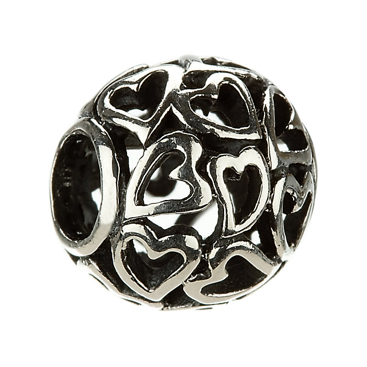 Chamilia - sterling silver Captured Hearts bead - Product number 8024154