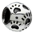 Chamilia - sterling silver paws bead - Product number 8024227