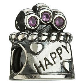 Chamilia Silver & Swarovski Zirconia Happy Birthday Bead - Product number 8024774