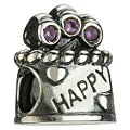 Chamilia - sterling silver Happy Birthday bead - Product number 8024774