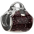 Chamilia - sterling silver and enamel purse bead - Product number 8025266