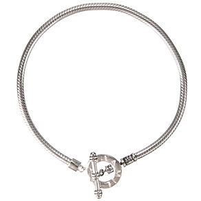 "Chamilia silver toggle bracelet 19cm or 7.5"" - Product number 8025703"