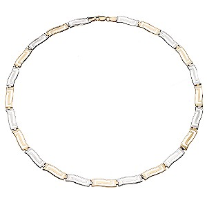 9ct Two Colour Gold Greek Necklace