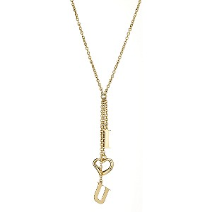 9ct Yellow Gold I Love You Necklace