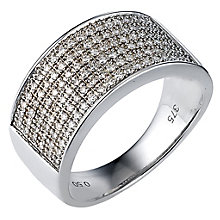 9ct White Gold Men's 0.50ct Pave Diamond Ring - Product number 8027986