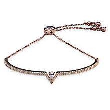 Carat Victoria Rose Gold Plated Adjustable Silver Bracelet - Product number 8028966
