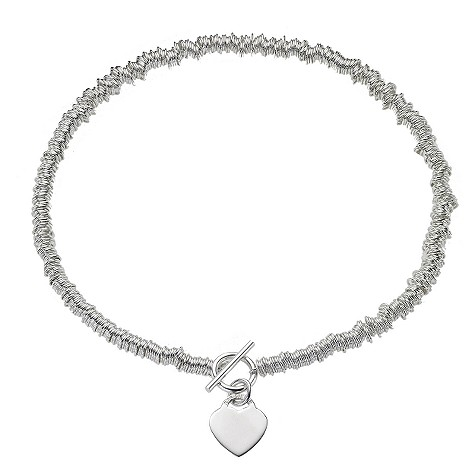 Silver Candy Heart Necklace