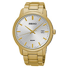 Seiko Men's Gold Plated Stainless Steel Bracelet Watch - Product number 8032459