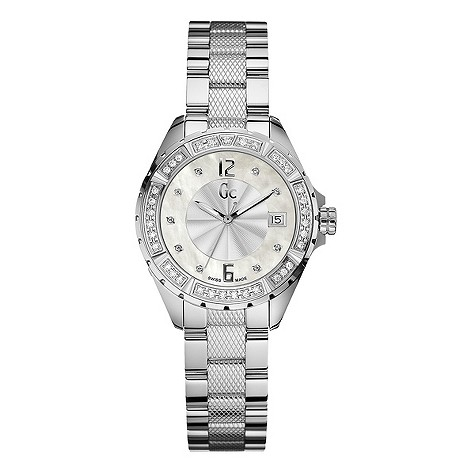 Gc ladies diamond bezel watch