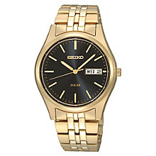 Seiko Men's Gold Plated Stainless Steel Bracelet Watch - Product number 8034850