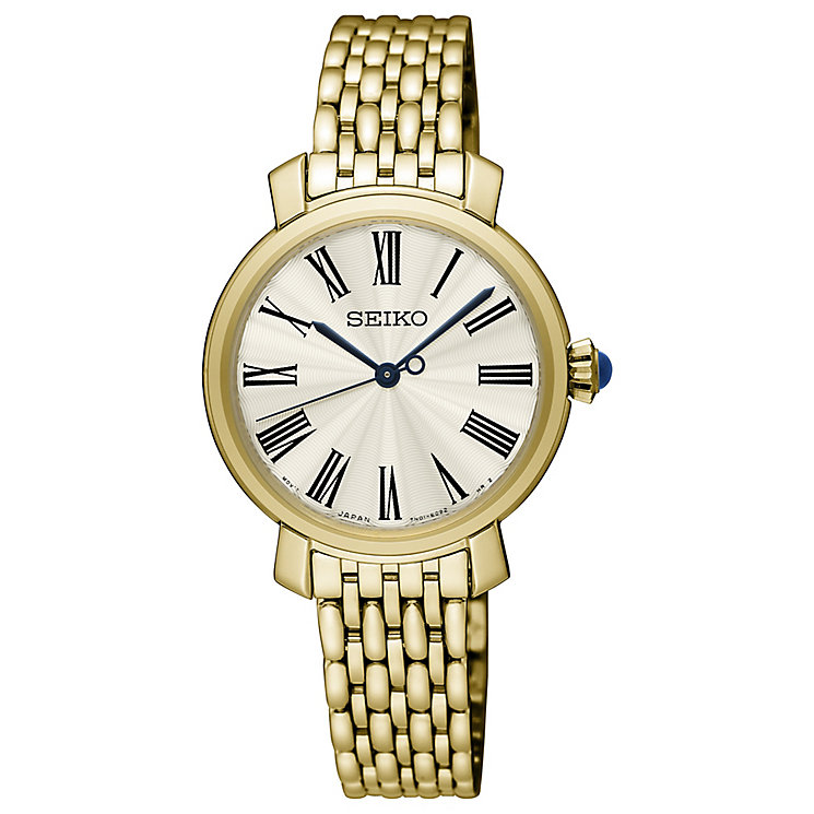 Seiko Ladies' Gold Plated Stainless Steel Bracelet Watch - Product number 8035083