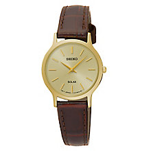 Seiko Ladies' Brown Leather Strap Watch - Product number 8035113