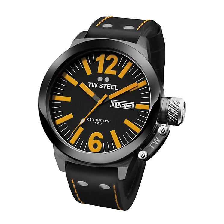 TW Steel men's black & orange watch - Product number 8035806
