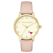 Kate Spade Yellow Gold Tone Cocktail Strap Watch - Product number 8037957