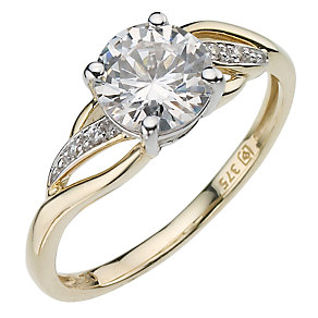 9ct Yellow Gold Cubic Zirconia Wrap Ring - Product number 8040796