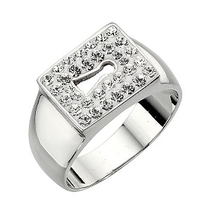 Giles Deacon Sterling Silver Locked Ring - L