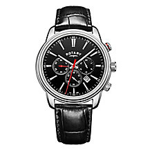 Rotary Monaco Men's Stainless Steel Black Strap Watch - Product number 8042624