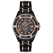 Bulova Ladies' Black Ceramic Bracelet Watch - Product number 8043604