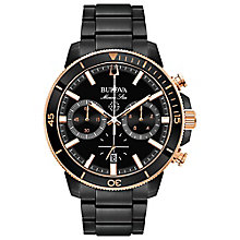 Bulova Men's Black Ion Plated Chronograph Bracelet Watch - Product number 8043736